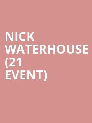 Nick Waterhouse (21+ Event) at Mississippi Studios